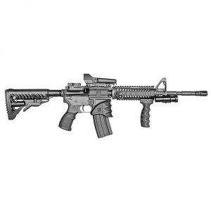 Carbine Length M16 Aluminum Quad Rail NFR